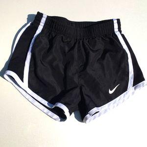 NIKE 2T Dri-Fit Athletic Shorts Black & White
